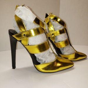 💝Paper Fox 💛 Yellow/Gold Heels 💝